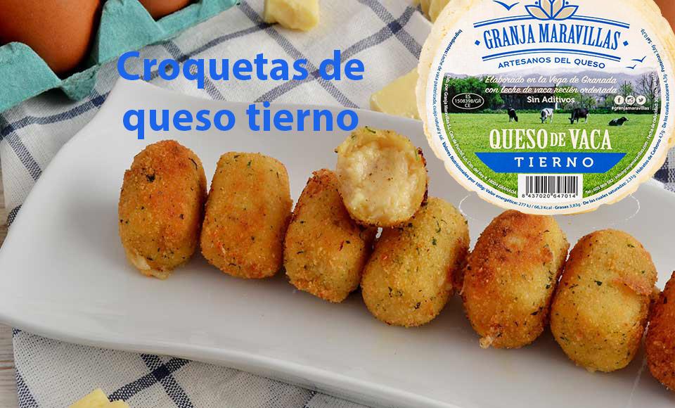 Recetas: Croquetas de queso tierno Granja Maravillas